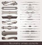 Éléments de conception et décorations de page Image stock