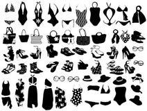 Éléments de mode pour la plage Photo stock