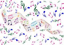Éléments de musique Photo libre de droits