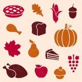 Éléments de thanksgiving Photos stock
