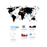 Éléments du monde d'infographics Image libre de droits