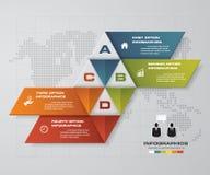 4 éléments modernes abstraits d'infographis d'étapes sur le fond gris de couleur Illustration de vecteur Image libre de droits