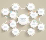 Éléments modèles plats abstraits d'infographics. Photo stock