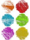 Éléments texturisés grunges colorés de Web d'isolement Image libre de droits
