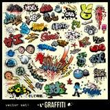 Éléments urbains d'art de graffiti Photographie stock libre de droits