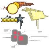 Éléments urbains de conception Images libres de droits