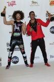 LMFAO à la musique 2012 de panneau-réclame attribue la salle de presse, Mgm Grand, Las Vegas, le nanovolt 05-20-12 Images libres de droits