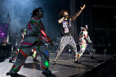 LMFAO Performing Live at Coliseu de Lisboa Royalty Free Stock Images
