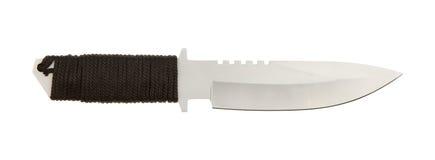 Lâmina Sharpened do metal com punho trançado Foto de Stock Royalty Free