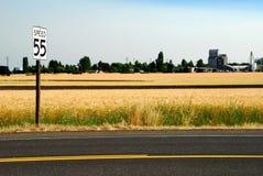 Límite de velocidad 55 Imagen de archivo libre de regalías