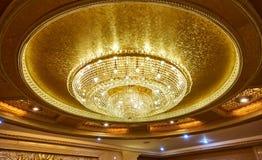 Lâmpada de cristal do teto Imagens de Stock Royalty Free
