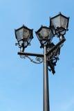 Lâmpada de rua velha da fôrma Foto de Stock