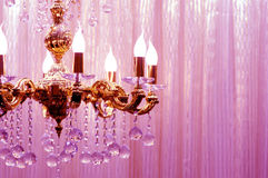 Lámpara cristalina Fotos de archivo