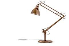 Lámpara de escritorio de cobre del vintage Fotos de archivo libres de regalías