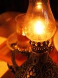Lámpara de petróleo ardiente Foto de archivo