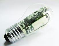 Lámpara del dólar Imagen de archivo libre de regalías