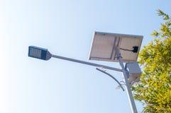 Lámpara solar Imagen de archivo libre de regalías
