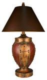 Lámpara y cortina de vector del estilo tradicional Imágenes de archivo libres de regalías