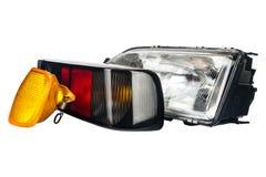 Lámparas del automóvil fijadas Fotografía de archivo libre de regalías