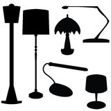 Lámparas eléctricas Imágenes de archivo libres de regalías