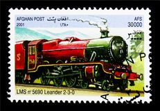 LMS 5690 Leander 2-3-0,机车serie,大约2001年 免版税图库摄影