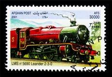 LMS 5690 Leander 2-3-0,机车serie,大约2001年 免版税库存照片