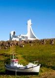 Lmur del ³ di StykkishÃ, Islanda Fotografia Stock
