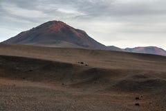 Lndscape do parque nacional de Timanfaya das montanhas vulcânicas, Lanzarote, Ilhas Canárias Imagens de Stock