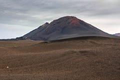 Lndscape do parque nacional de Timanfaya das montanhas vulcânicas, Lanzarote, Ilhas Canárias Foto de Stock