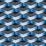 Línea azul modelo inconsútil de Chevron Fotografía de archivo libre de regalías