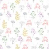 Línea cada vez mayor colorida Art Seamless de las plantas del vector Foto de archivo libre de regalías