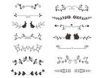Línea caligráfica elemento de los divisores del vector Imagen de archivo libre de regalías