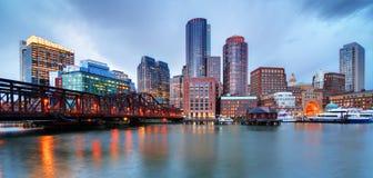 Línea de costa de Boston Imagen de archivo