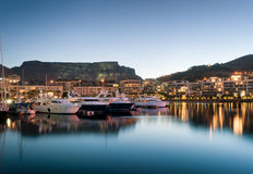 Línea de costa de Ciudad del Cabo V&A Imagen de archivo libre de regalías