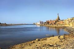 Línea de Dwarka Bay Arabian Sea Horizon Imagen de archivo libre de regalías