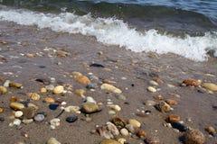 Línea de la playa de la bahía de Gardiners Imágenes de archivo libres de regalías