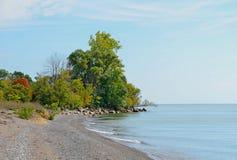 Línea de la playa de Pelee del punto Fotografía de archivo