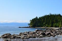 Línea de la playa del este del parque de Sooke de la isla de Vancouver Imagen de archivo libre de regalías