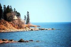 Línea de la playa del superior de lago Imagen de archivo libre de regalías