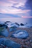 Línea de la playa rocosa Imagen de archivo