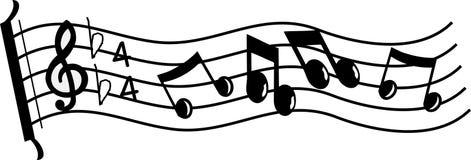 Línea de música Fotos de archivo libres de regalías