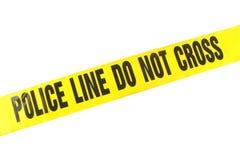 Línea de policía cinta del crimen Imagen de archivo