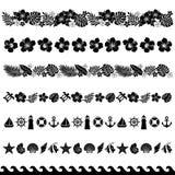 Línea decoración del verano Imágenes de archivo libres de regalías