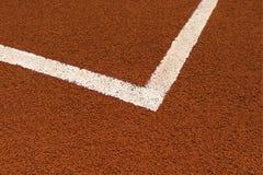 Línea del campo de tenis Fotos de archivo