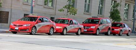 Línea del taxi en Washington DC Fotografía de archivo libre de regalías