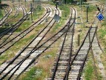 Línea del tren Fotos de archivo