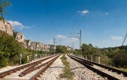 Línea del tren Imagen de archivo