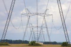 Línea eléctrica eléctrica Imágenes de archivo libres de regalías
