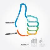 Línea estilo del diagrama del diseño de la muestra de la mano del vector de Infographics buena Foto de archivo
