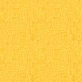 Línea fina modelo amarillo inconsútil de la escuela de la graduación de la educación Foto de archivo libre de regalías
